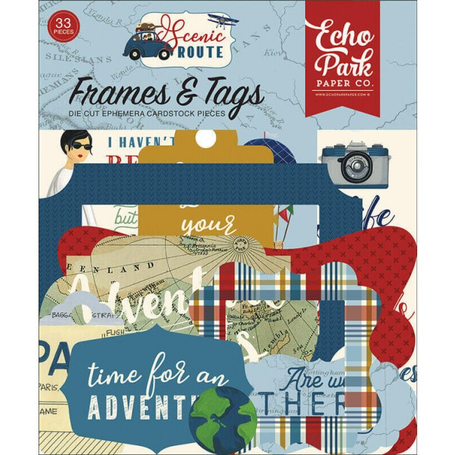Die Cuts Scenic Route Frames & Tags