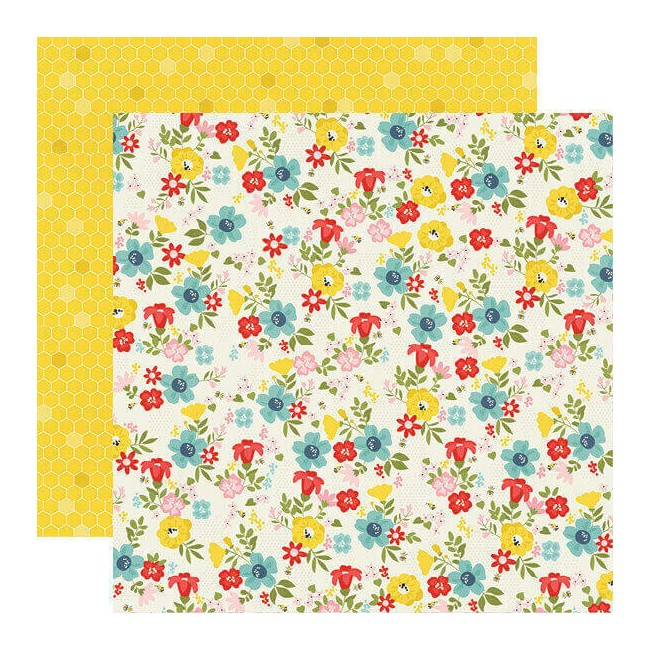Papel Estampado Doble Cara 12x12 Summer Farmhouse Sunny Day