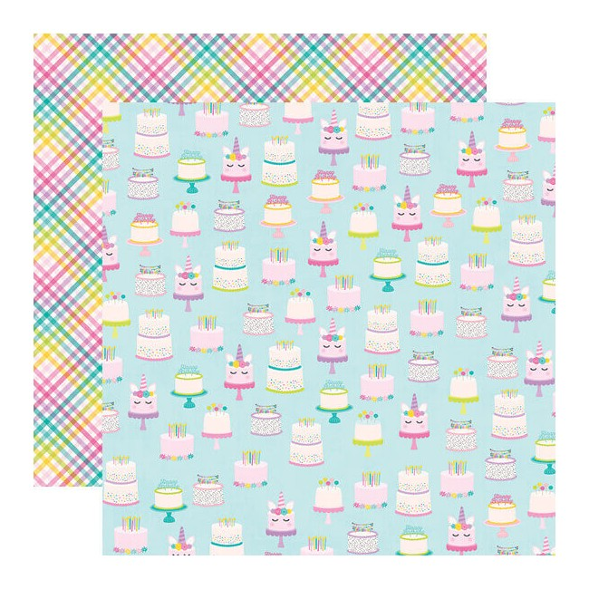 Papel Estampado Doble Cara 12x12 Magical Birthday Make A Wish