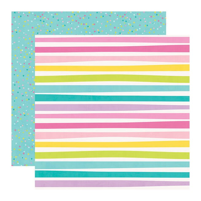 Papel Estampado Doble Cara 12x12 Magical Birthday Let's Party