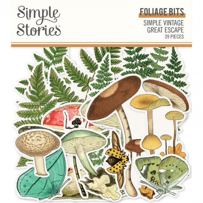 Die Cuts Simple Vintage Great Escape Foliage