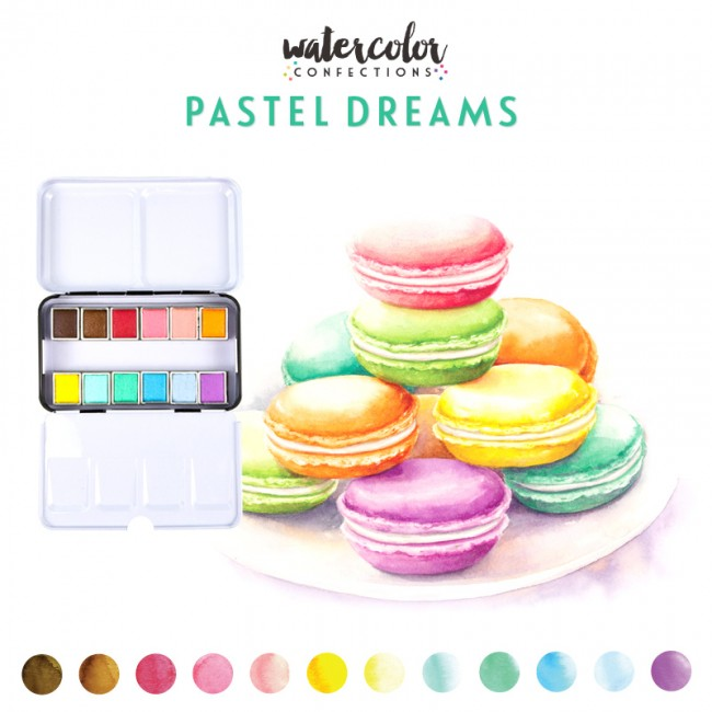 Acuarelas Confections Pastel Dreams