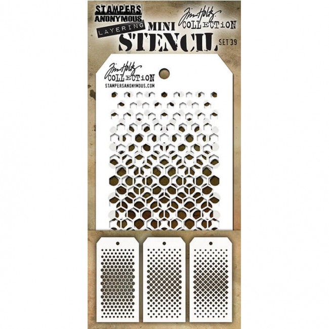 Set Mini Stencil #39 Tim Holtz