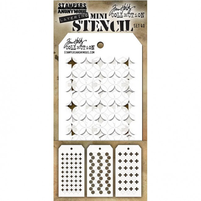 Set Mini Stencil #40 Tim Holtz