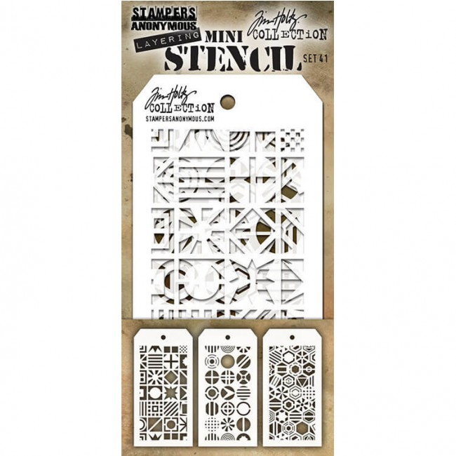 Set Mini Stencil #41 Tim Holtz