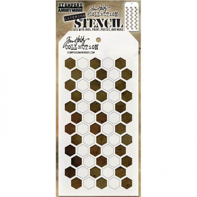 Stencil Shifer Hex Tim Holtz