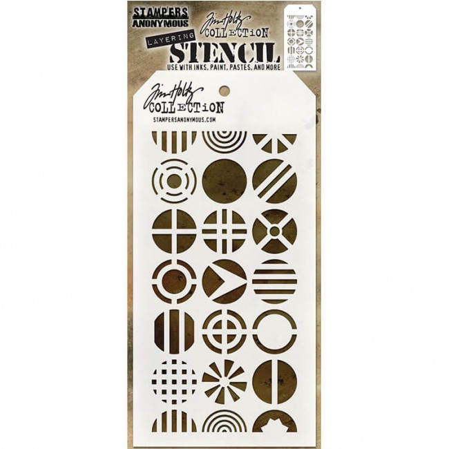 Stencil Patchwork Circle Tim Holtz
