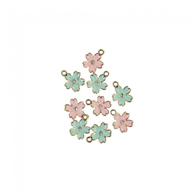 Set de Charms Sugar Cookie Flower