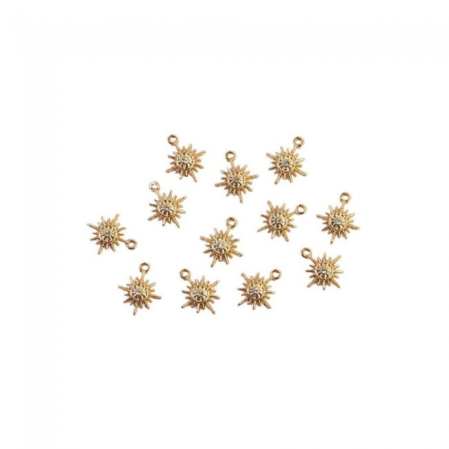 Set de Charms Sugar Cookie Snowflakes