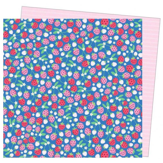 Papel Estampado Doble Cara 12x12 Wild Card Damask Love So Berry Excited