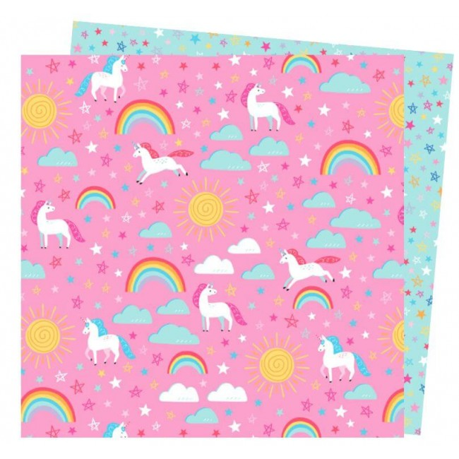 Papel Estampado Doble Cara 12x12 Wild Card Damask Love Spirit Animal