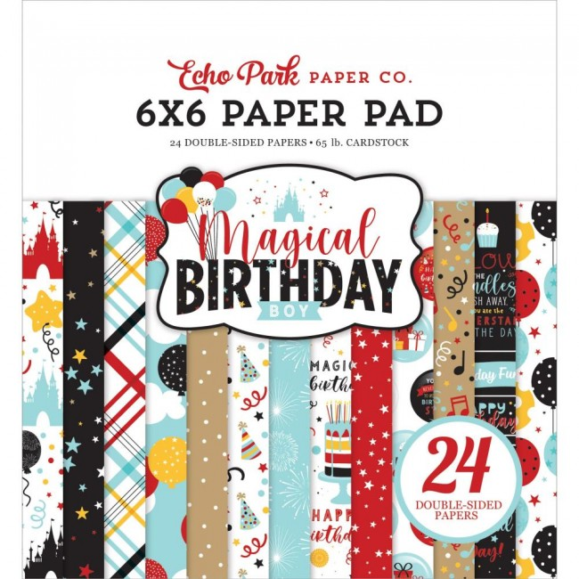 Stack Papeles Estampados 6x6 Magical Birthday Boy