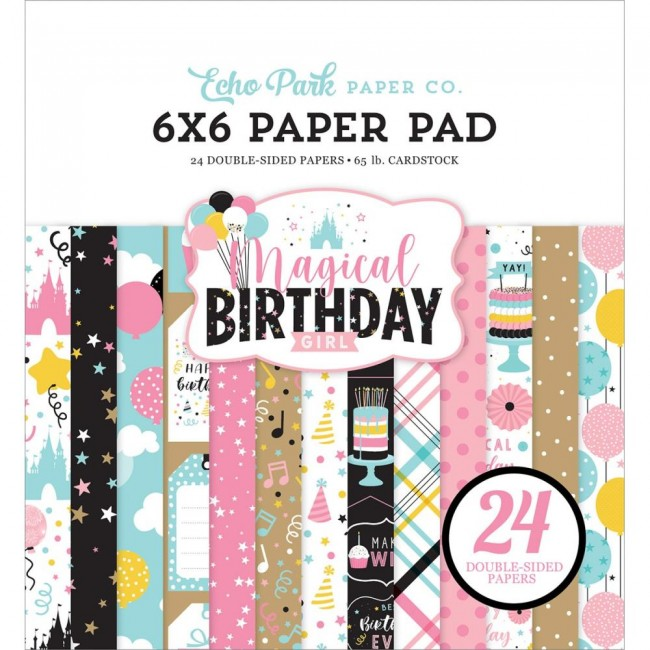Stack Papeles Estampados 6x6 Magical Birthday Girl