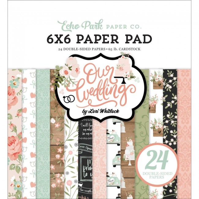 Stack Papeles Estampados 6x6 Our Wedding