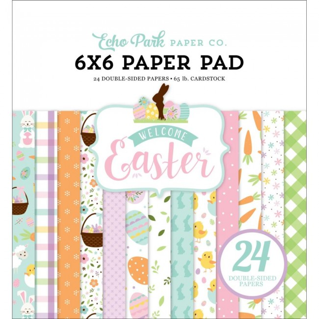 Stack Papeles Estampados 6x6 Welcome Easter Welcome Easter