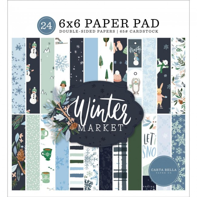 Stack Papeles Estampados 6x6 Winter Market