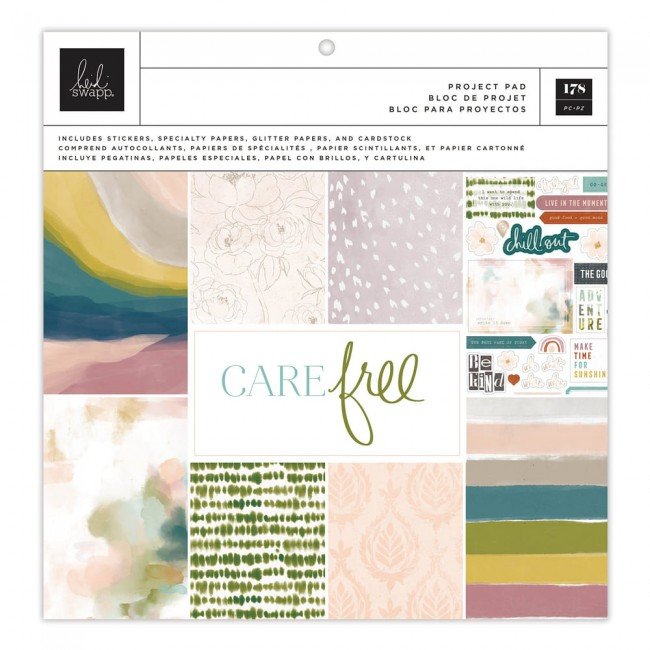 Stack Papeles Estampados Project Pad 12x12 Carefree