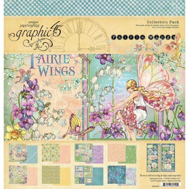 Stack Papeles Estampados 12x12 Fairie Wings