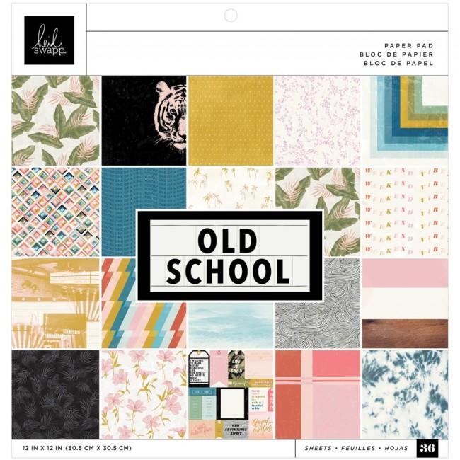 Stack Papeles Estampados 12x12 Una cara Old School