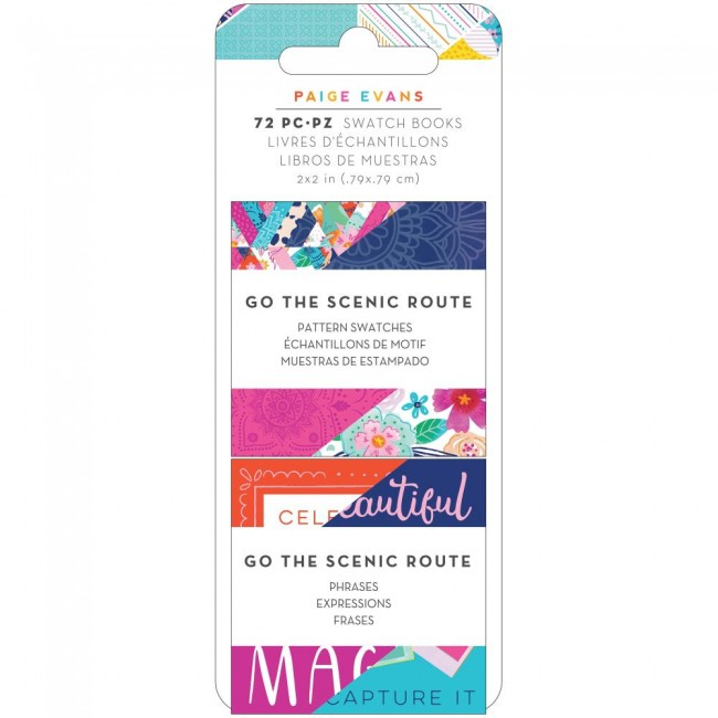 Stack Papeles Estampados 2x2 Una cara Go To The Scenic Route Paige Evans Pattern & Phrase