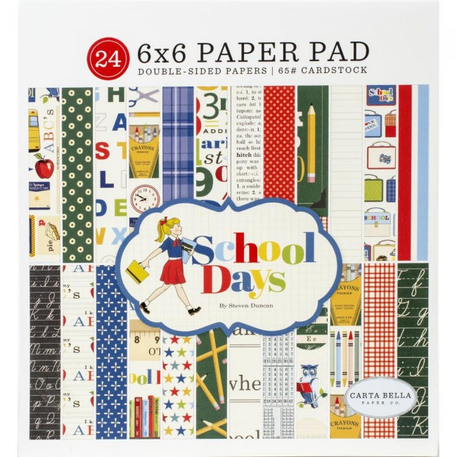 Stack Papeles Estampados 6x6 School Days CB