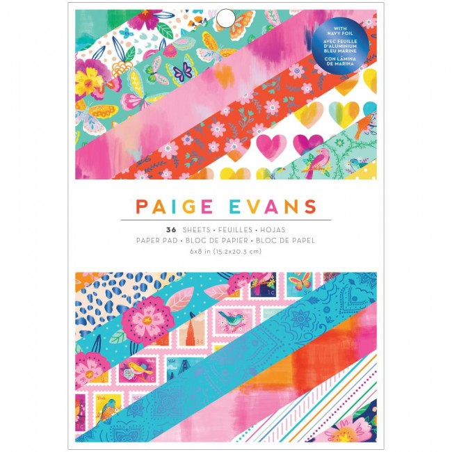 Stack Papeles Estampados 6x8 Una cara Go To The Scenic Route Paige Evans