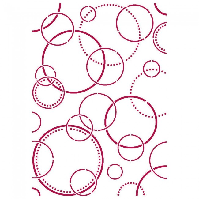 Stencil A4 Romantic Collection Threads bubbles