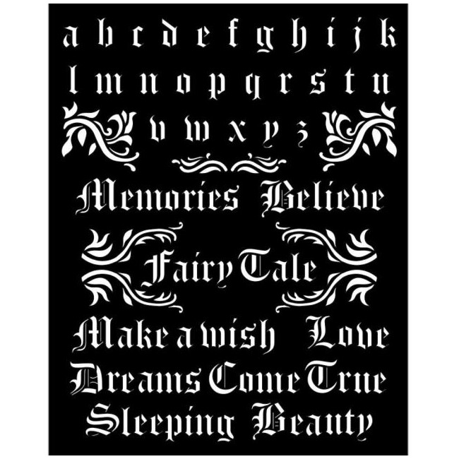 Stencil grueso Sleeping Beauty Alphabet and Quotes