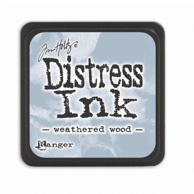 Tinta Mini Distress Ink Weathered Wood