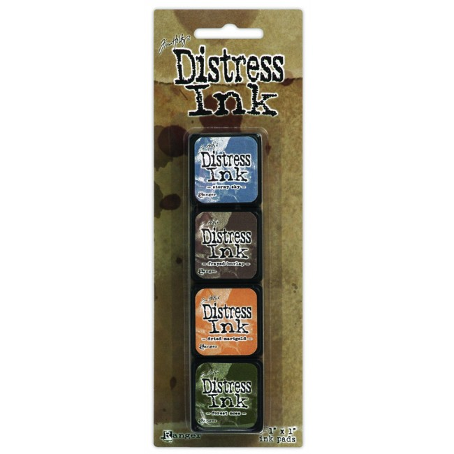 Kit Tinta Mini Distress Ink #9