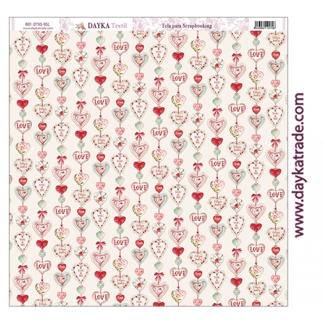 Tela de lienzo 12x12 Love makes us fly Tira corazones