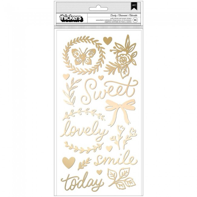 Thickers Marigold  Lovely Phrase & Icons Puffy