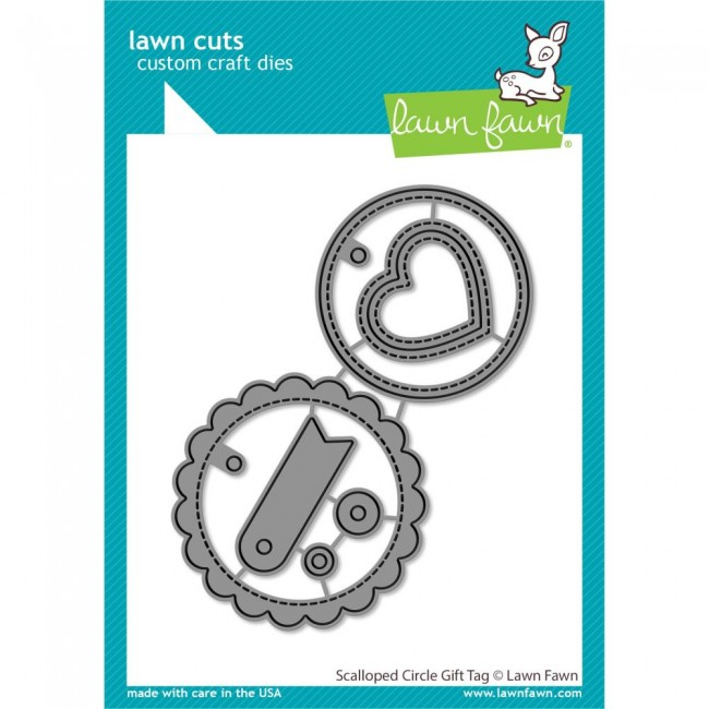 Troquel Lawn Cuts Scalloped Circle Gift Tag