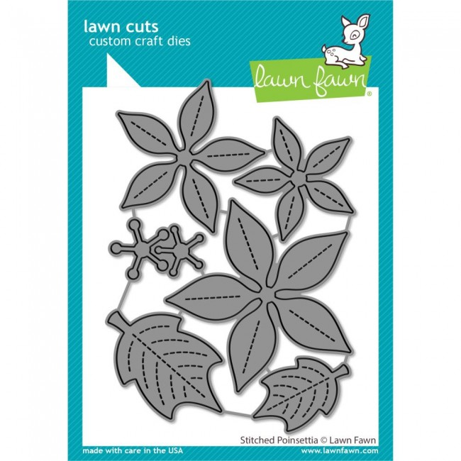 Troquel Lawn Cuts Stitched Poinsettia