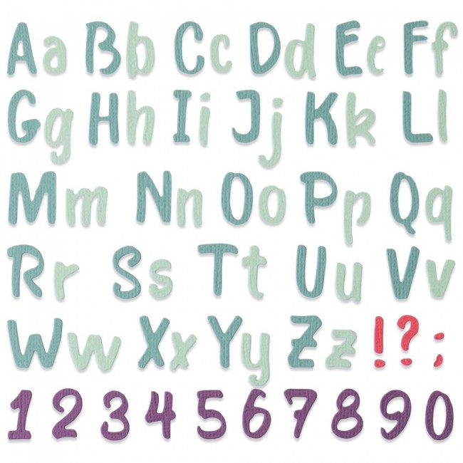 Troquel Thinlits Bold Brush Alphabet