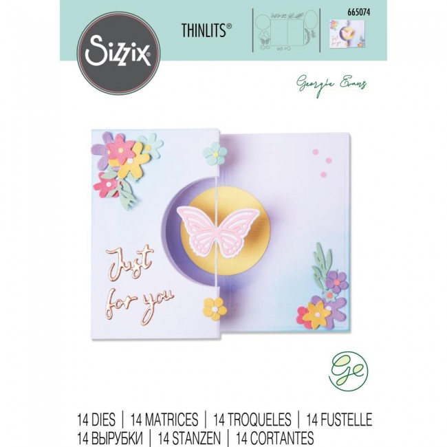 Troquel Thinlits Butterfly Spinner Card by Georgie Evans