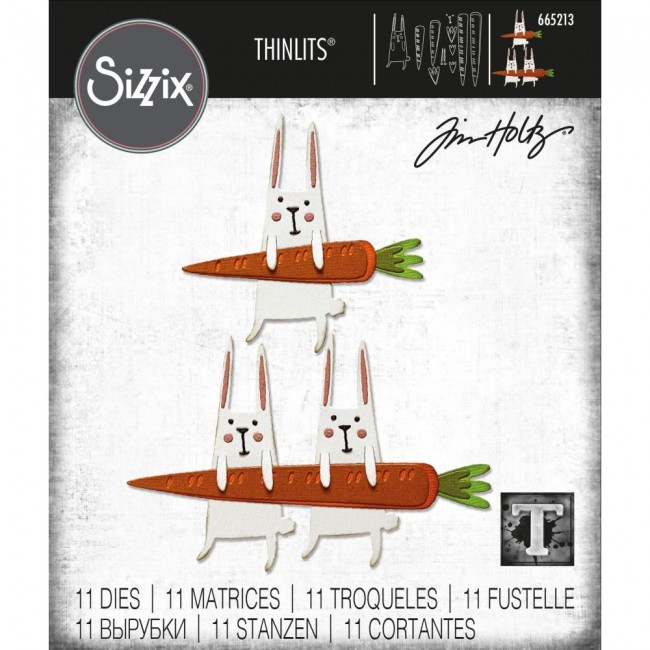 Troquel Thinlits Carrot Bunny by Tim Holtz