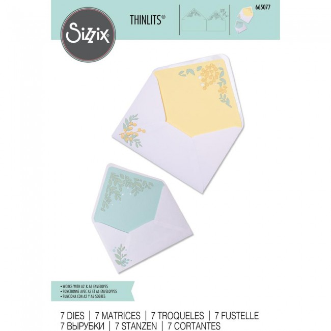 Troquel Thinlits Foliage Envelope Liners by Sharon Drury