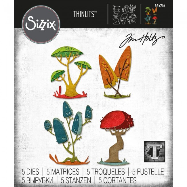 Troquel Thinlits Funky Toadstools by Tim Holtz