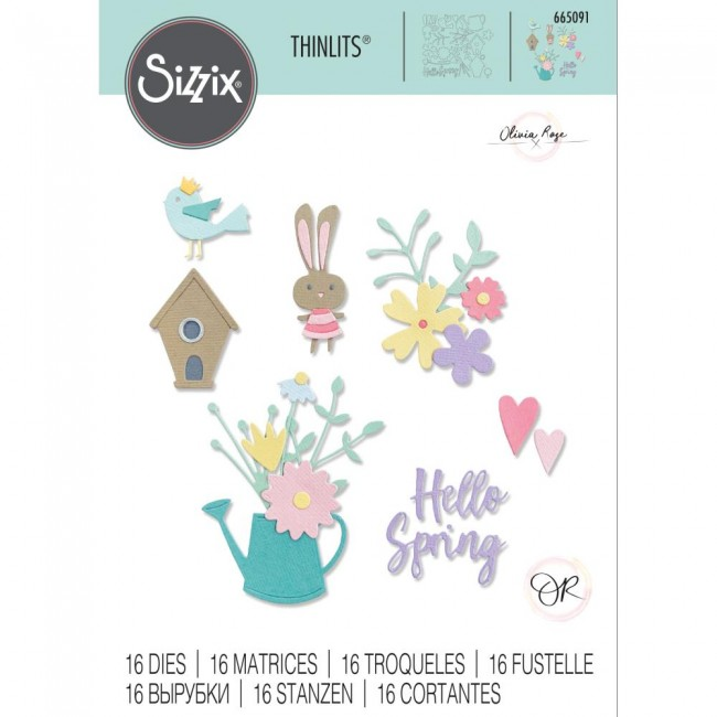 Troquel Thinlits Hello Spring by Olivia Rose