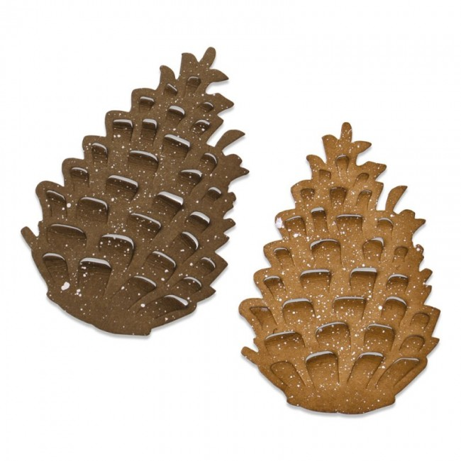 Troquel Bigz Pinecone by Tim Holtz