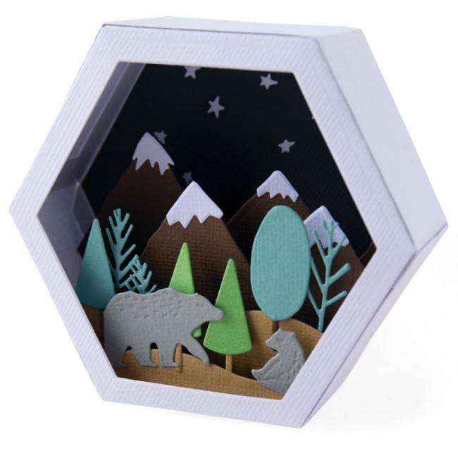Troquel Thinlits Box Winter Scene by Jessica Scott