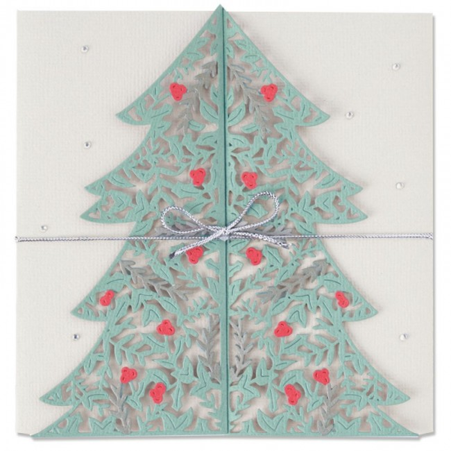 Troquel Thinlits Christmas Tree Card by Lisa Jones