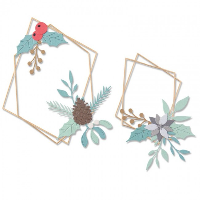 Troquel Thinlits Geometric Winter Frame by Olivia Rose