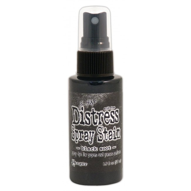 Tinta Distress Spray Stain Black Soot