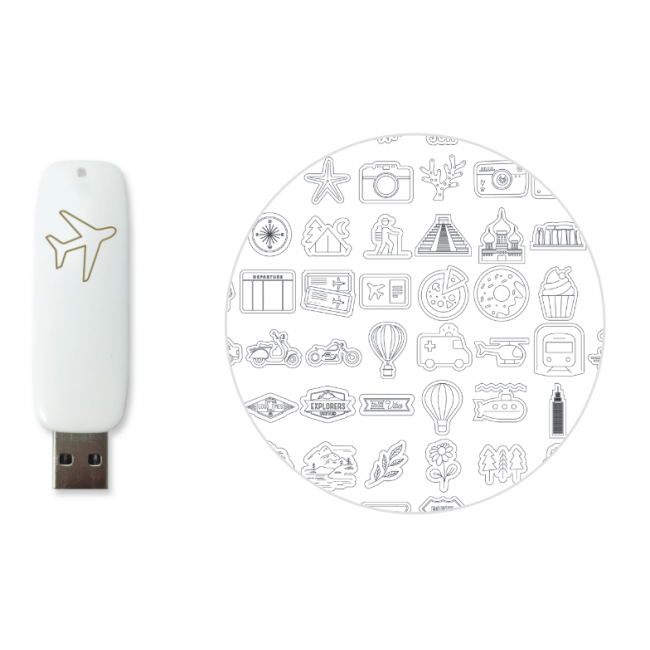 USB Foil Quill Diseños Vacation