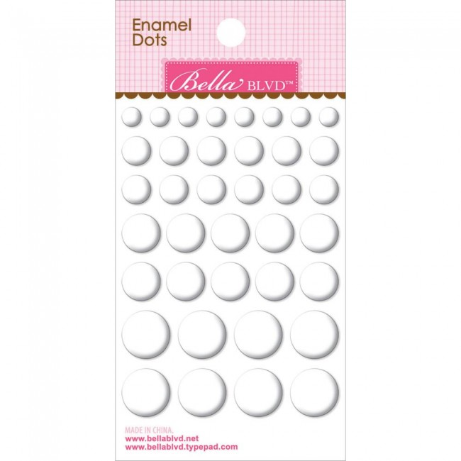Enamel Milk White Dots