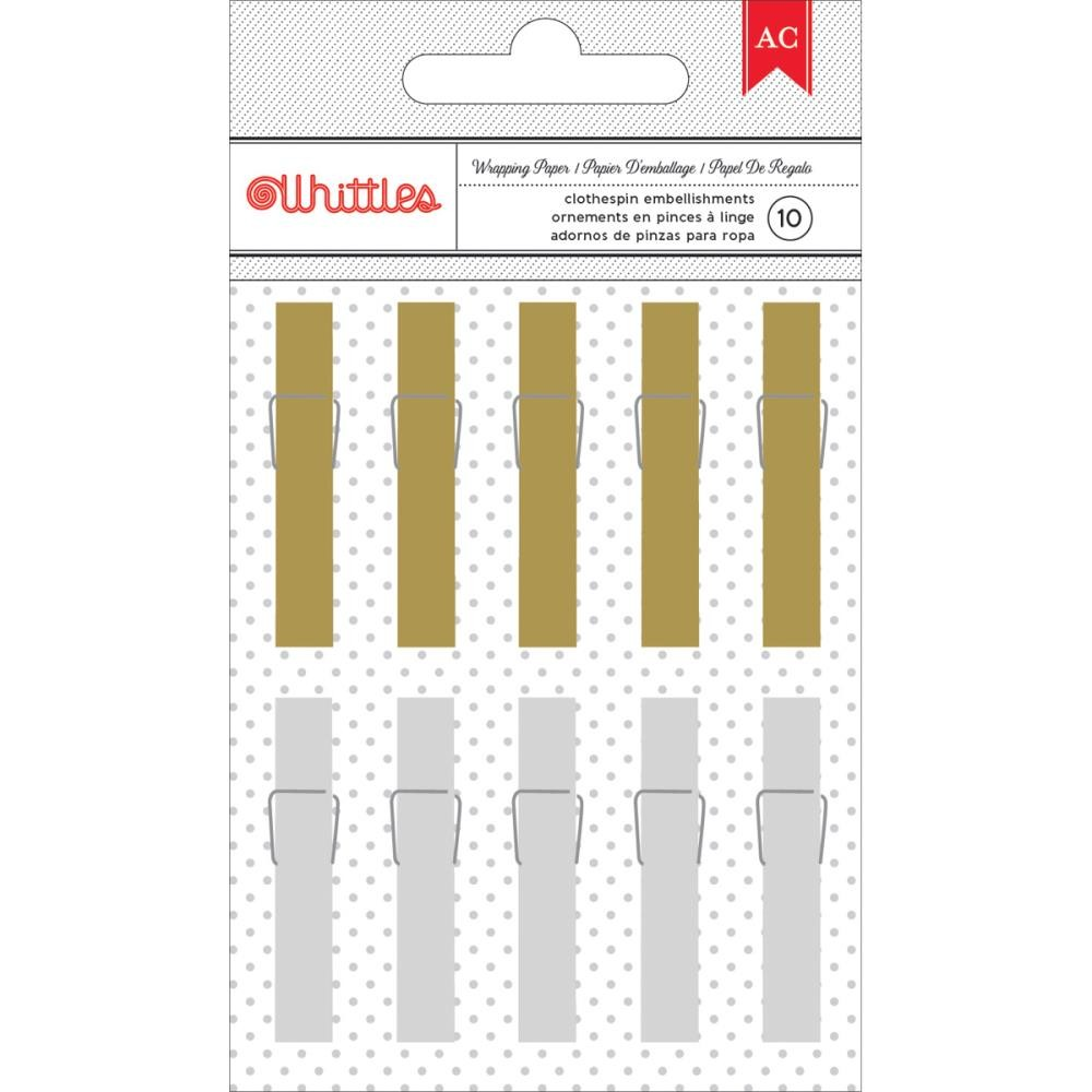 Gold & Silver Foil Gift Clothespin