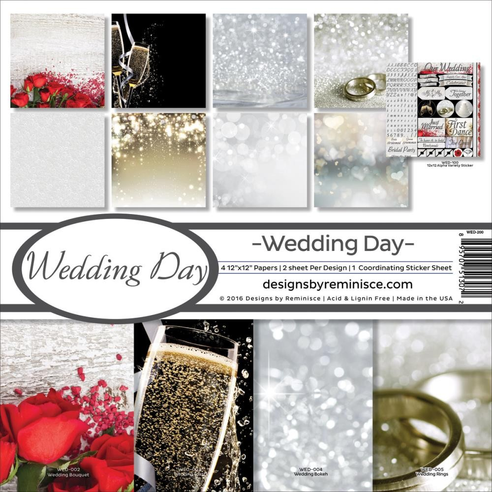 Kit papeles estampados 12x12 Wedding Day