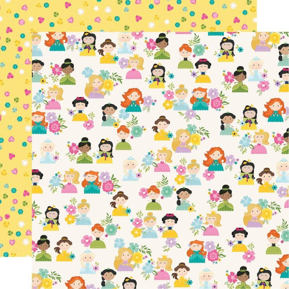 Papel Estampado Doble Cara 12x12 Little Princess Hello Princess